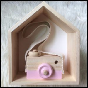 Pink Wooden Toy Camera