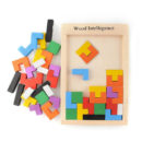 Wooden Tetris Brain Teaser Game